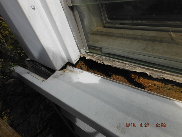 Home Inspection Revealed Rot at Wrapped Window