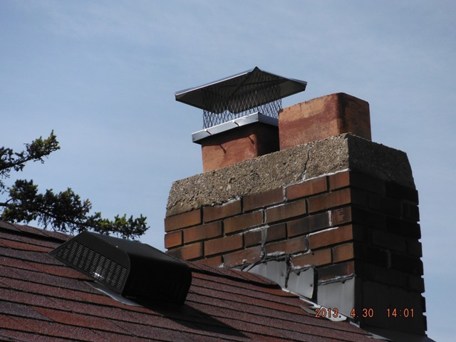 Found Chimney in disrepair during home inspection